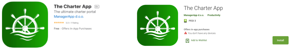 iOS Android logo The Charter app